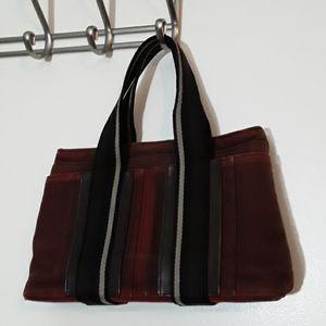 Hermes small canvas handbag.rare.